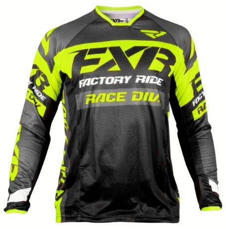 DH Motocross MX FXR Long Sleeve MTB Jersey 1