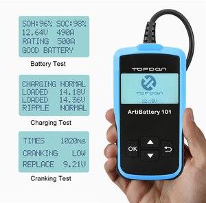 Image 2 - Tester della batteria dellautomobile di TOPDON AB101 12V Test della batteria di tensione analizzatore del caricatore automobilistico 2000CCA Tester di Circut di ricarica a manovella per auto