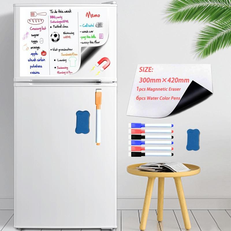 Soft Fridge Stickers Size 300*420mm Magnetic Whiteboard For Kids Dry Eraser White Board School Memo Boards Message Board