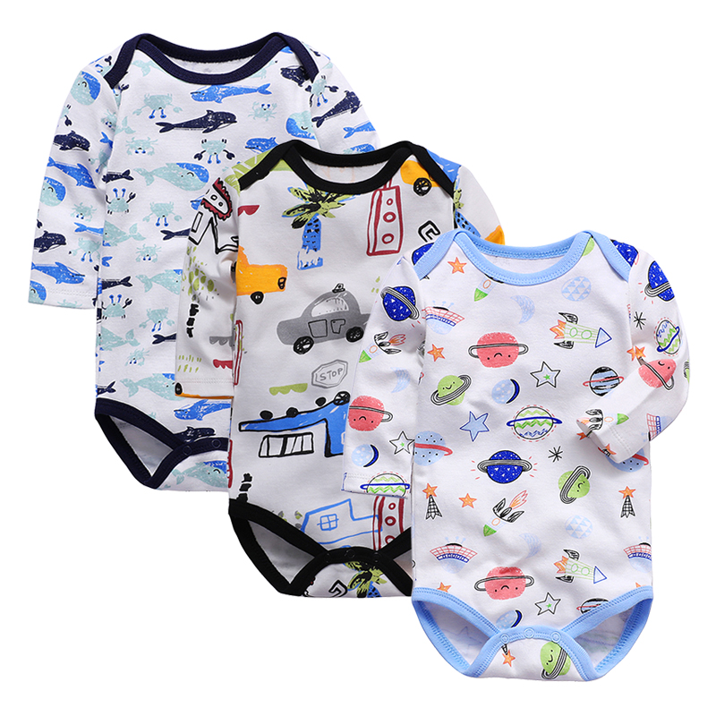 Newborn Bodysuit Baby Babies Bebes Clothes Long Sleeve Cotton Printing Infant Clothing   Months pcs