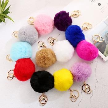LLavero de muñeco de felpa suave relleno con decoración de bolso favorito colorido Bola de 8cm