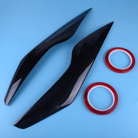 beler Carbon Fiber Texture Front Headlight Eyebrows Eyelids Cover Trim molding Exterior Decoration Fit for Ford Focus 2009 2011