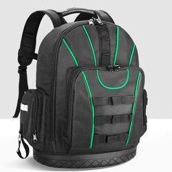 Kit de hombro multifuncional, mochila impermeable, bolsa de almacenamiento de herramientas, caja de instrumentos de electricista carpintero, bolso de mano de gran capacidad