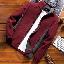 Moda męska kurtka wiosenna 2020 jesień stojak kołnierz Homme casualowa kurtka mężczyźni termiczny polar płaszcz męski Plus rozmiar 6XL 7XL 8XL 9XL