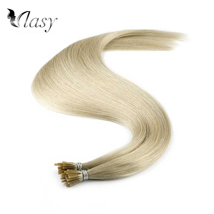Vlasy 1 g/s keratyny Pre Bonded I końcówki doczepy z włosów typu remy prosto kapsułki szary kolor podwójne wyciągnąć Fusion ludzkich włosy 20'' 28''