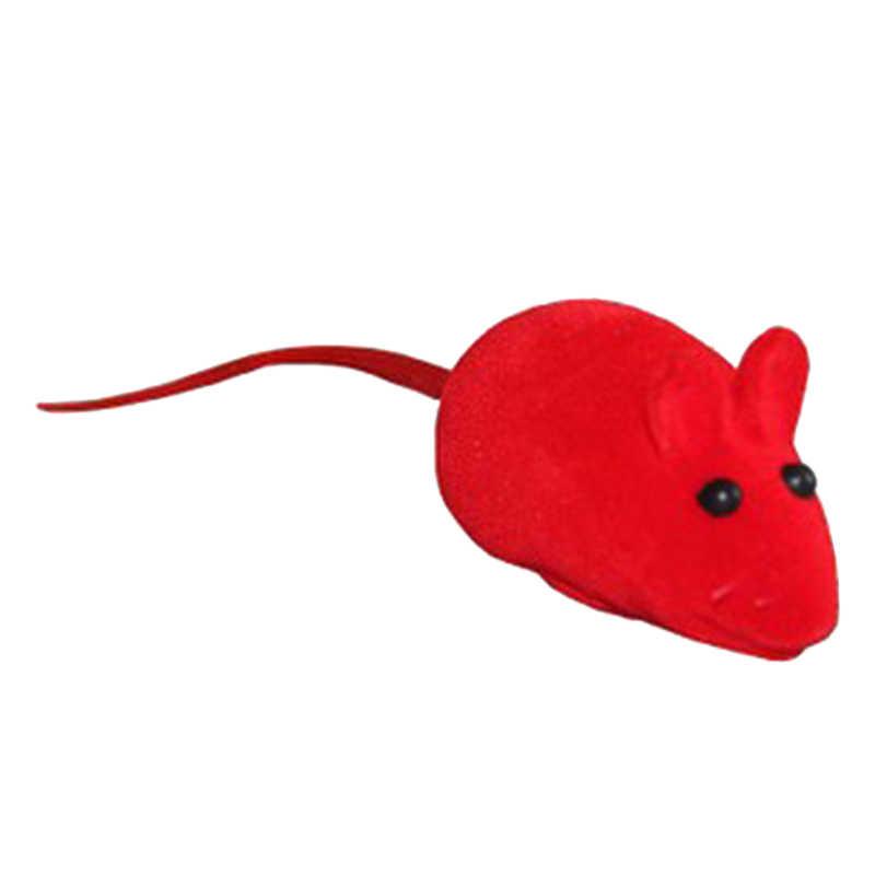 1 pc 무작위 색깔 귀여운 재미 있은 애완 동물 고양이 새끼 고양이 놀기 장난감 사랑스러운 쥐 끽끽 소리 소음 소리 애완 동물 부속품 제품