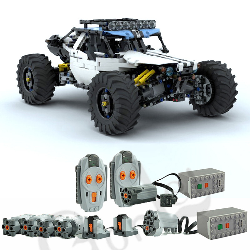 2019 NEW 4WD RC Buggy For MOC 19517 Building Blocks Toy Kit DIY Educational Children Birthday Gift Fit For Technic Cars
