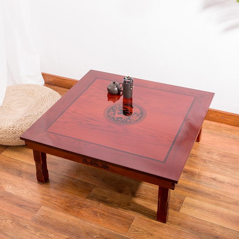 table basse pliante au sol coreenne meuble de luxe meuble de luxe pour la salle a manger traditionnelle coreenne 80x80cm