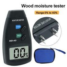 Novo MD-4G quatro pinos digital medidor de umidade madeira umidade testador madeira detector úmido madeira trabalho testador ferramenta medição
