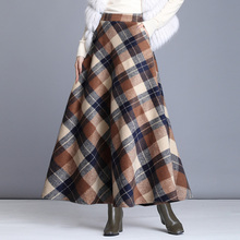 Sisjuly Women's Winter Woolen Skirts A-Line Long S