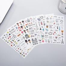 European style Travel diary Paper Sticker Decoration Diary Scrapbooking Label Sticker Kawaii Korean Stationery DIY Stickers