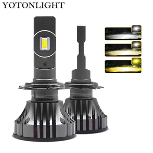 Image 1 - Светодиодная лампа YOTONLIGHT H1, H7, H4, двухцветная, H11, 9005, 9006, HB3, HB4, 120 Вт, 12000 лм, 6500K, 3000K, 4500K