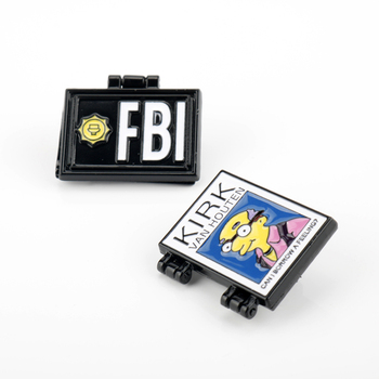 Simpson Milhouse FBI Pins Kirk Van Houten Brooch значки Shirt Bag Lapel Badge Enamel Pin for Gift image