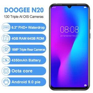 Image 2 - DOOGEE N20 6.3 FHD+ Waterdrop 4GB 64GB Fingerprint Smartphone16MP Triple Back Camera MT6763 Octa Core 4350mAh LTE Mobile phone