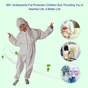 Image 5 - Overall Antibacteriële Herbruikbare Kinderen Kids Beschermende Isolatie Pak Geïntegreerde Kap Flexibele Elastische Mouwen Broek Ontwerp