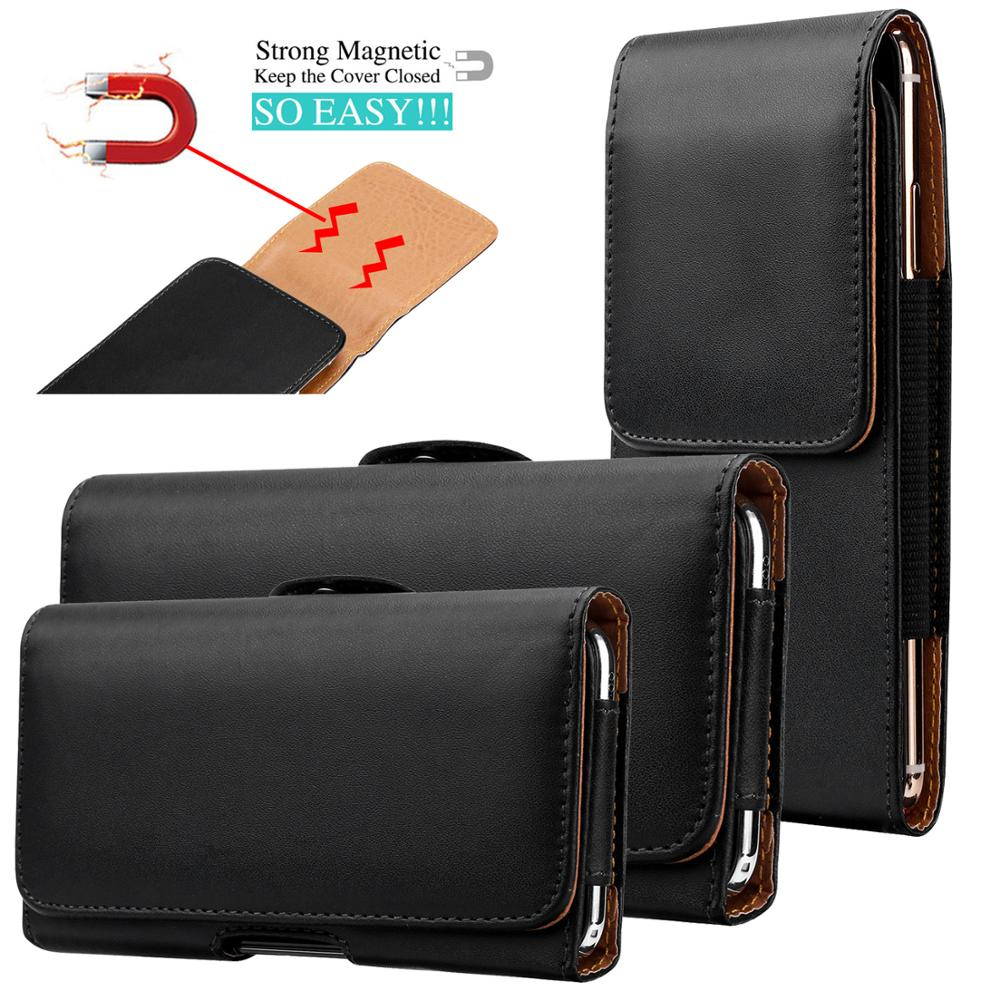 Leather Phone <font><b>Belt</b></font> <font><b>Case</b></font> 6.5/5.8/4.7'' Waist Bag Magnetic Vertical Phone <font><b>Case</b></font> for <font><b>iPhone</b></font> 11 XS Max 8 Plus Pouch Cover <font><b>Belt</b></font> Clip image