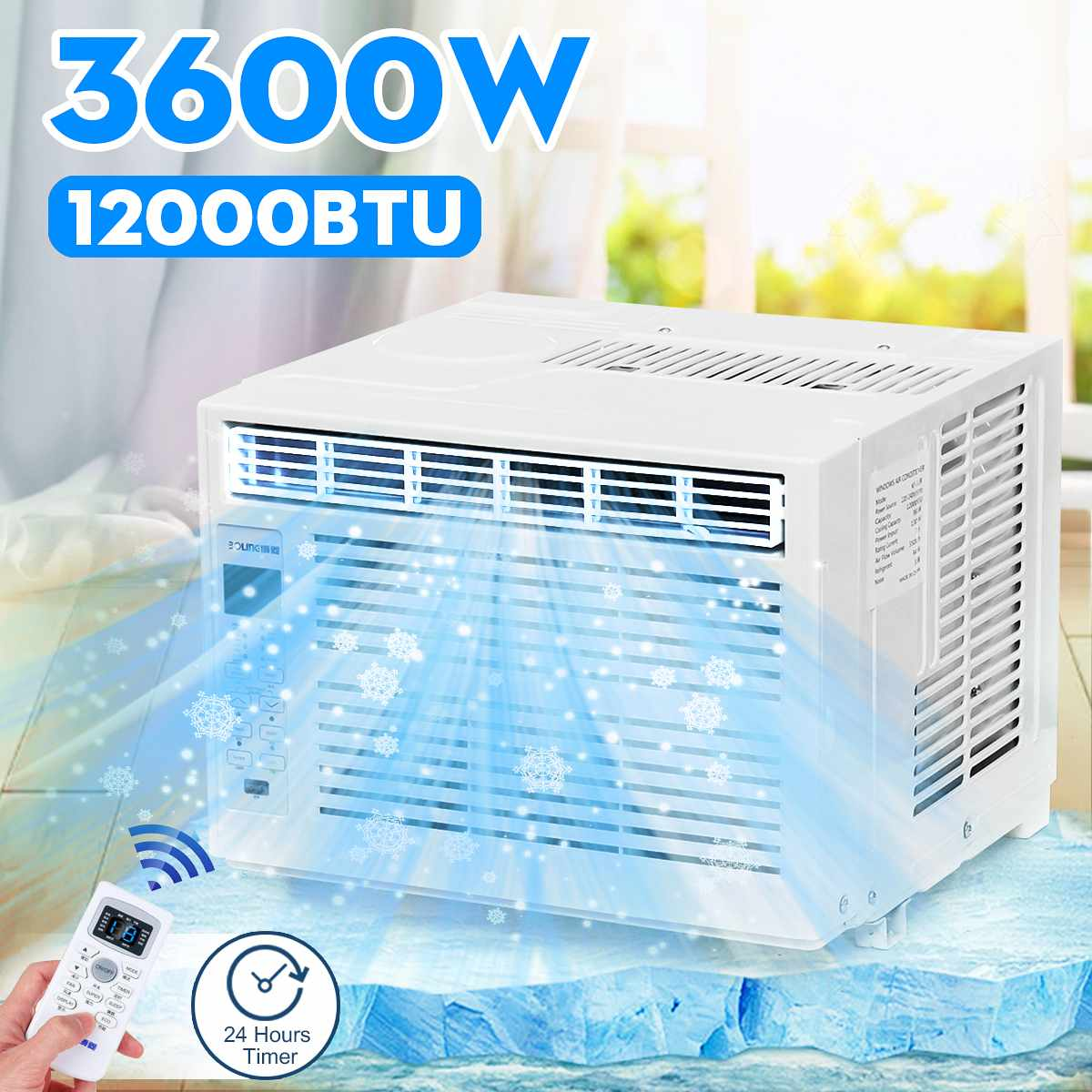 AC220-240V Desktop Air Conditioner 3600W24-hour Timer Cold Use With Remote Control LED Control Panel 12000BTU Pet Air Conditione