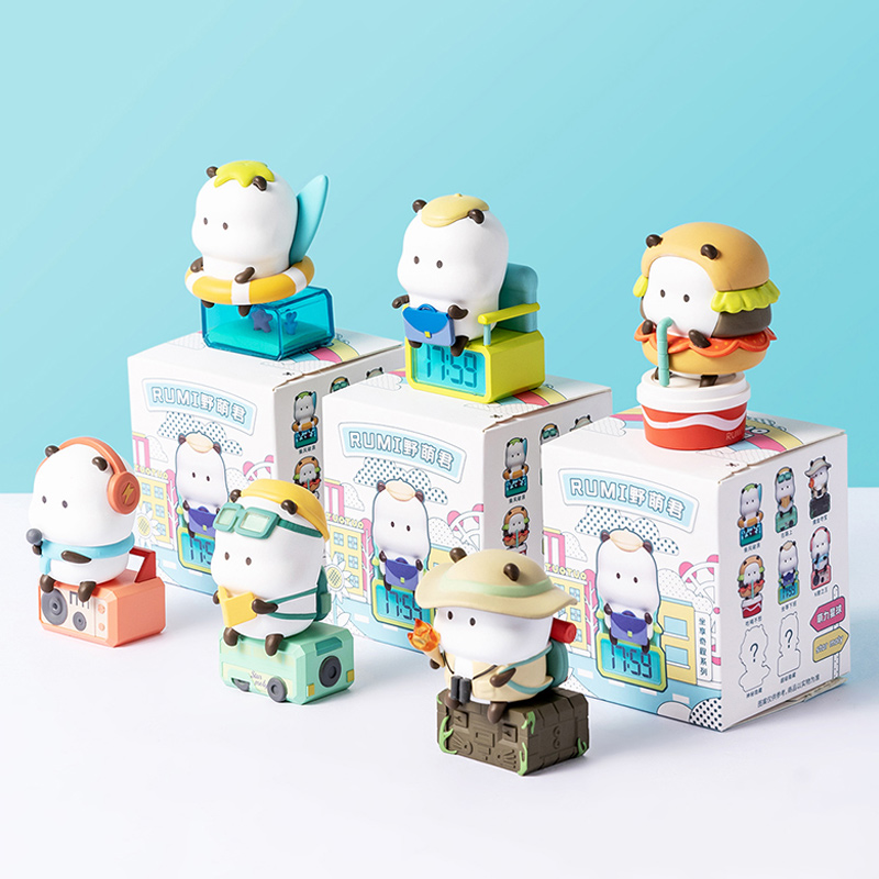 Blind Random Box Toys Lot TUOTUO Sit On Car Figures 8 Style Surprise Anime Model Guess Figurine Doll 86cs/Set