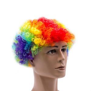 Яркие парики с кручеными волосами цирка, забавные головные уборы, карнавальный костюм для Хэллоуина, ночного клуба, карнавальный костюм, па...