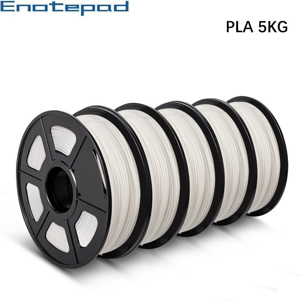 Нить для 3D-принтера 1,75 мм, 1 кг/2,2 фунта, PLA 5/10 в рулонах, экологичный, нетоксичный материал для печати образцов промышленного дизайна