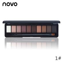 NOVO Beauty Cosmetics 10 Colors Matte Eyeshadow Palette Paleta De Sombra Nude Ma
