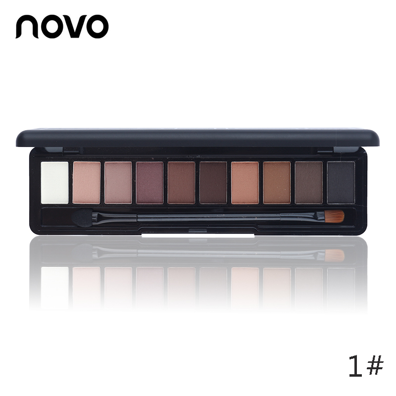 NOVO Beauty Cosmetics 10 Colors Matte Eyeshadow Palette Paleta De Sombra Nude Makeup Eye Shadow Waterproof