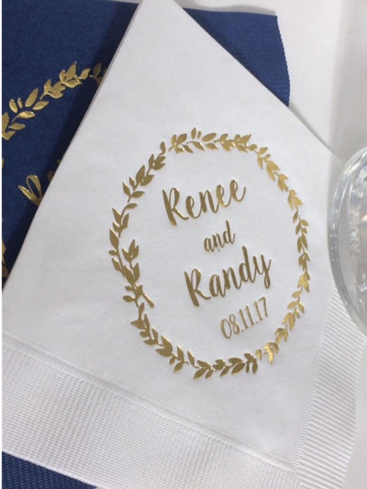 Personalize Luncheon Avail! Classic White Paper napkins Wedding Engagement Cocktail Beverage Luncheon Dinner Guest Towels