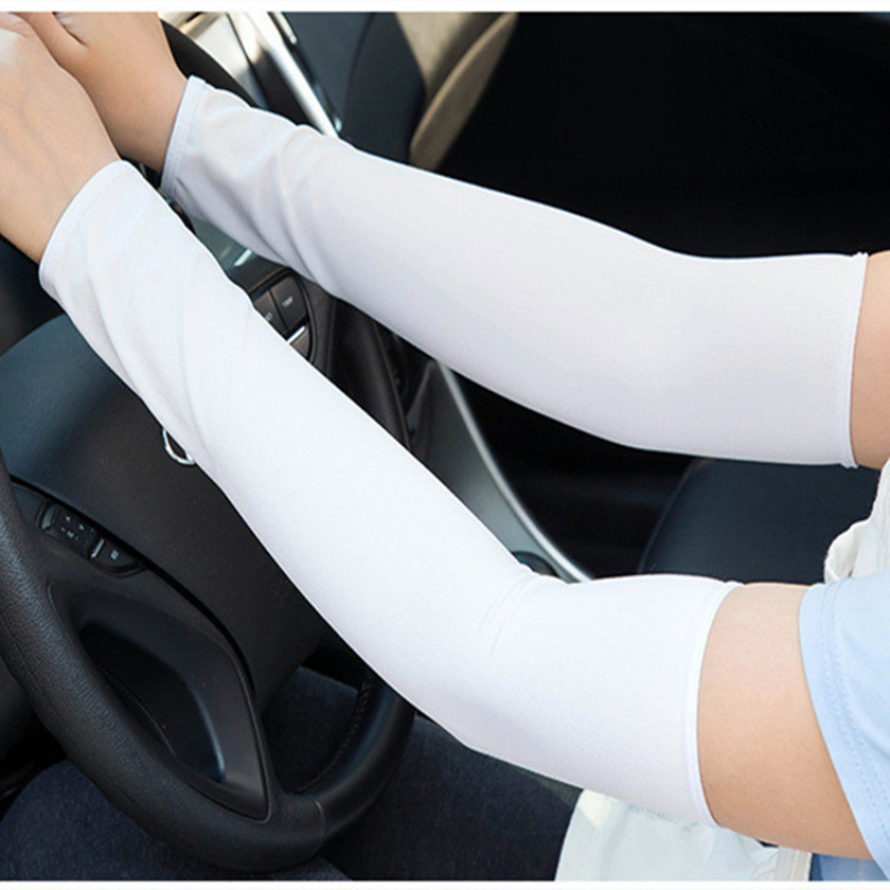 1 Pair Men Women Arm Sleeves Summer Sun Protection Ice Cool Cycling Running Fishing Climbing Driving Arm Cover Warmers