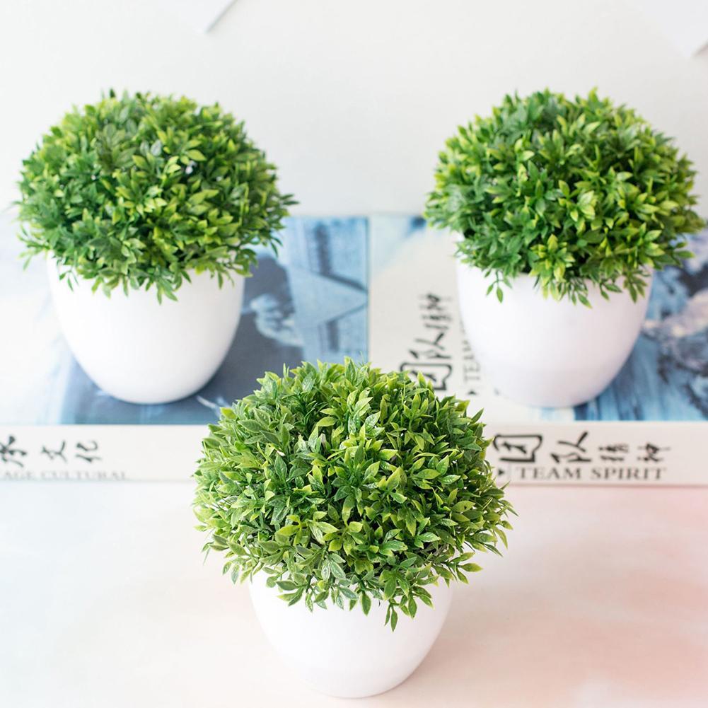 1pcs Kunstmatige Planten Bonsai Kleine Boom Pot Planten Nep Bloemen Ingemaakte Ornamenten Voor Home Decoratie Hotel Tuin Bonsai