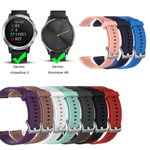 Soft Silicone Replacement Strap For Garmin Vivoactive3 Vivomove HR Smart WristBand For Garmin Vivoactive 3 Music Strap Bracelet