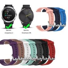 Weiche Silikon Ersatz Strap Für Garmin Vivoactive3 Vivomove HR Smart Armband Für Garmin Vivoactive 3 Musik Strap Armband