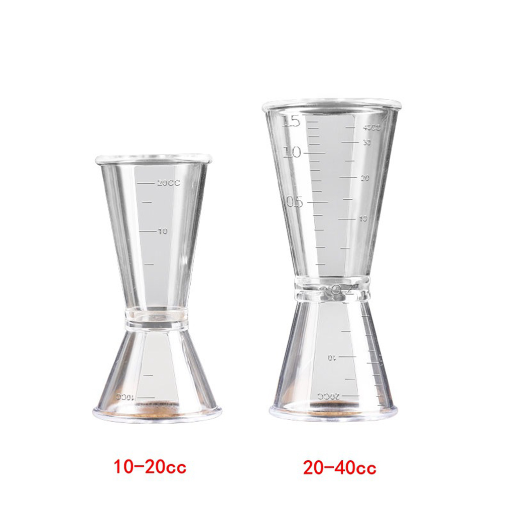 Double Clear Jigger Ounce Cup Plastic Resin Milk Tea Coffee Mixing Oz Scale Measuring Cup Home Bar Applies