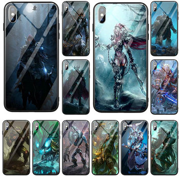 Hard Tempered Glass Mobile Phone Cases Fundas for iPhone 5 5S SE 6 6S 7 8 X XR XS Max Plus Bags Games Lich King Stormrage image