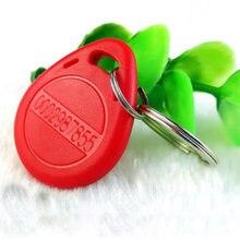 Tk4100 100 peças/lote chave rfid tag chaveiro cartão 125khz proximidade token crachá pode ser lido e escrito
