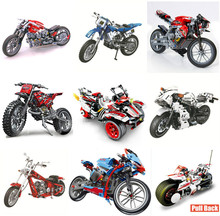 New Technic Series Motorcycle Motorbike Racing Car Fit Technic Building Blocks Brick Model Car Kits Gift Kid Toys for Children legoing technic series 42069 2050pcs ultimate extreme adventure car toys for children gift 20057 building blocks set