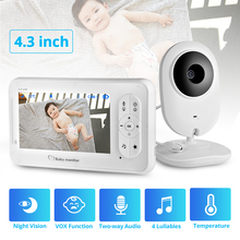 FUERS 4.3-inch wireless portable nanny monitor monitors the infrared two-way intercom in real time 24 hours a day