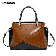 Gradosoo Panelled Handbag Women Shoulder Bag Lady Luxury Designer Messenger Bag Female Large Capacity Tote Crossbody Bag LBF622 цены онлайн