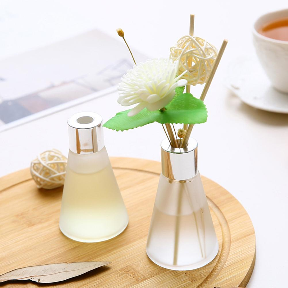 50ml Glass Bottles Reed Diffuser Sticks Essential Oil Air Freshers Flameless Aromatherapy Home Air Freshener Perfume Set Supply