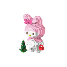 Hot Legoinglys Makers Classic Japan Anime Hello Cat Melody Konijn Kt Model Mini Micro Diamant Bouwstenen Bakstenen Speelgoed Gift(China)