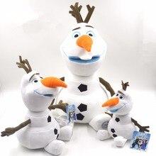 23 см 30 см 50 см плюшевые игрушки в виде Олафа милый мультфильм снеговик мягкие куклы Brinquedos Juguetes для детей день рождения и рождественские подарки