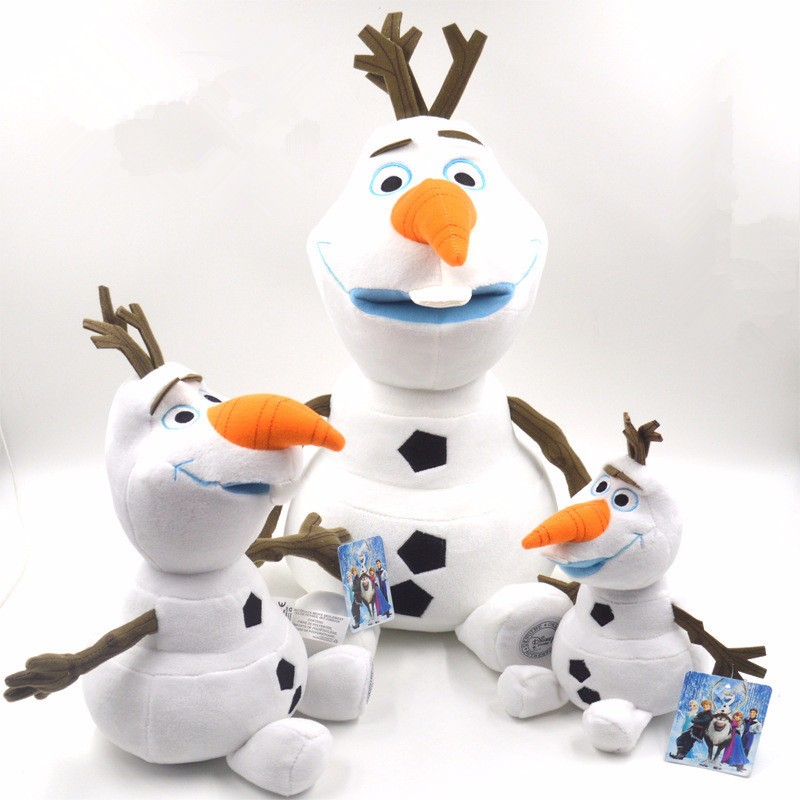 23cm 30cm 50cm Olaf Plush Toys Cute Cartoon Snowman Soft Stuffed Dolls Brinquedos Juguetes For Kids Birthday And Christmas Gifts