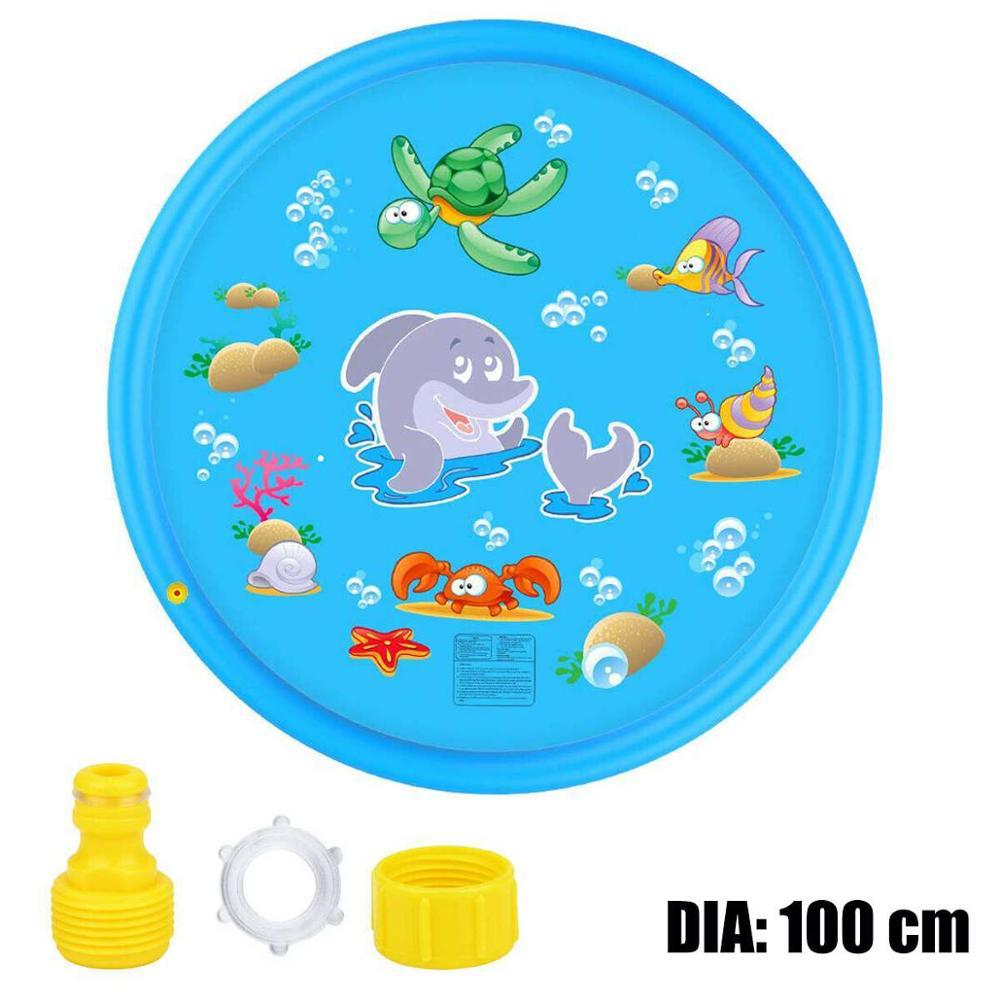 Дети надувной вода спрей коврик круг вода брызги игры бассейн игры разбрызгиватель коврик двор открытый развлечения плавание бассейны