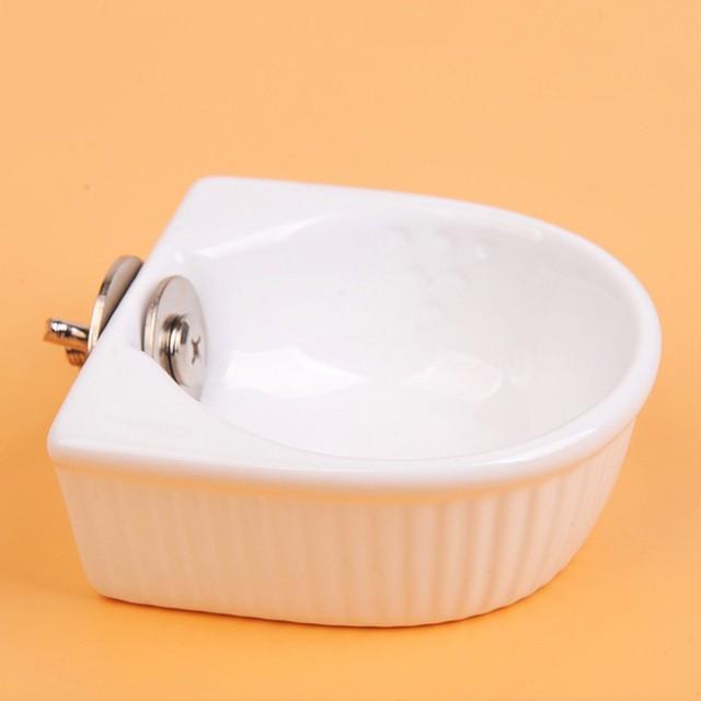 Pet  Water Food Feeder Mini Anti-overturned Food Bowl Feeding Dish Hamster Parrot Food Bowl Small Animal Cage Bowl AXIR