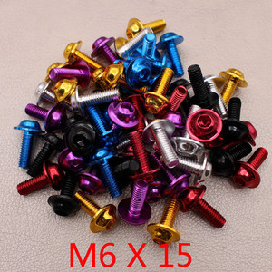 M6 colorful decoration car style part moto screw for kawasaki honda suzuki benelli vespa yamaha accessories 6MM motorcycle screw