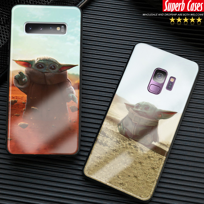 Baby yoda cute <font><b>funny</b></font> meme phone <font><b>case</b></font> For <font><b>Samsung</b></font> Galaxy S8 S9 S10e S10 S20 Ultra <font><b>Note</b></font> 8 <font><b>9</b></font> 10 Plus silicone glass cover shell image