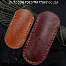 Повседневный складной кожаный чехол для ножа ручной работы портативный