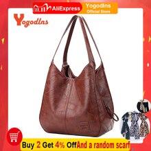 Yogodlns винтажная Женская Ручная сумка, дизайнерские роскошные сумки, женские сумки на плечо, женские сумки с верхней ручкой, модные брендовые сумки