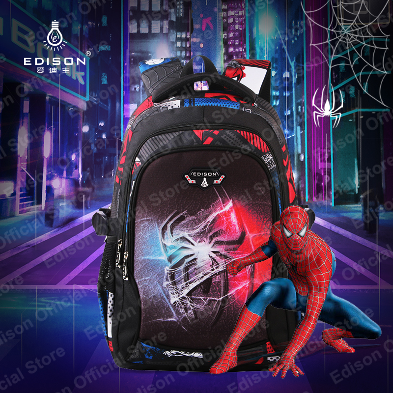 Image 5 - Edison Teenagers School Bags Fashion Ultra Light Burden Reduction Children School Backpack Cartoon Backpack bags For Boys Girls-in School Bags from Luggage & Bags