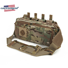 Emersongear Emerson Tactical Recon Waist bag Sling Pack Multi function Nylon Airsoft Army Combat pack Gear emerson tactical combat chest recon kit bag emersongear military multi purpose utility accessories concealed carry pouch