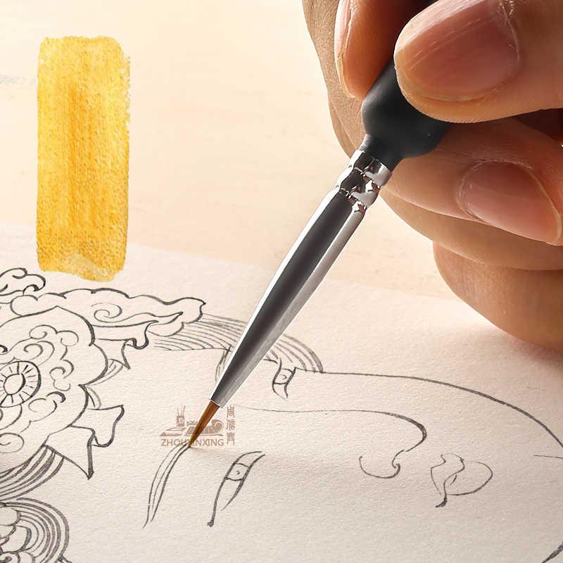 Haak Lijn Pen Aquarel Zacht Haar Olieverf Extra Fijn Wezel Haar Hand Geschilderd 00000 Borstel Gouache Acryl Schilderen Slag